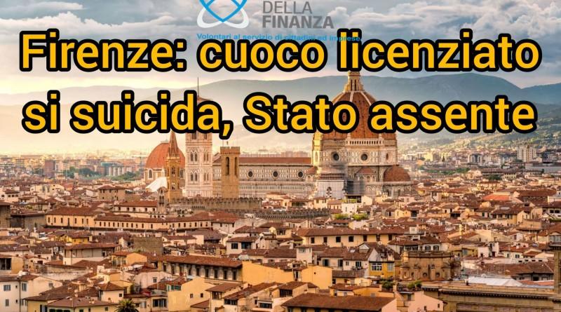 Firenze, cuoco perde il lavoro causa pandemia: si suicida